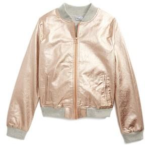 Splendid Girl's Faux Leather Bomber Jacket