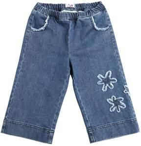 Il Gufo Stretch Cropped Wide Denim Jeans