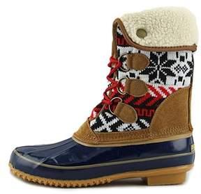 Khombu Womens Jenna Leather Closed Toe Mid-calf Cold Weather Boots.