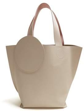Roksanda Eider Pebbled Leather Tote - Womens - White Multi