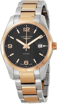 Longines Conquest Classic Black Dial Two-tone Men's Watch