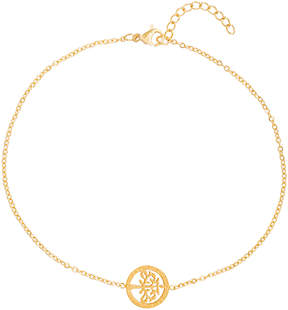 Bliss Goldtone Tree of Life Single-Charm Anklet