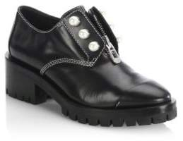 3.1 Phillip Lim Hayett Pearl Embellished Leather Boots