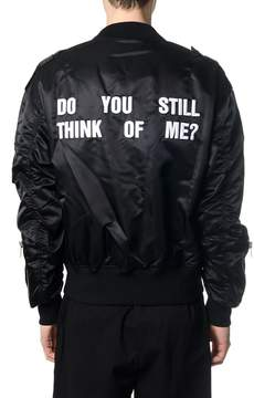Misbhv Black Nylon Bomber With Back Pattern