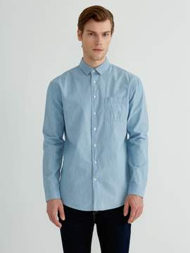 Frank and Oak Lightweight Denim Shirt in Light Indigo