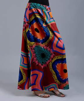 Lily Red Geometric Maxi Skirt - Women & Plus