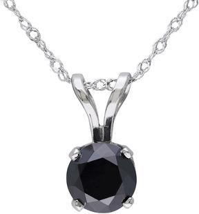 Black Diamond FINE JEWELRY Midnight 1 CT. T.W. Round Color-Enhanced Pendant Necklace