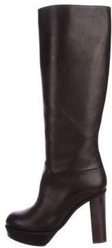 Marni Leather Platform Knee-High Boots