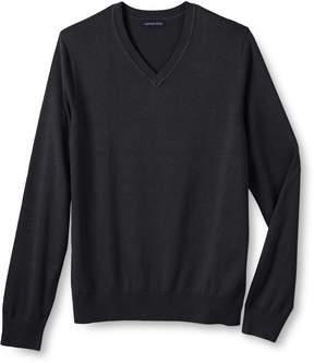 Lands' End Lands'end Men's Cotton Modal V-neck Sweater