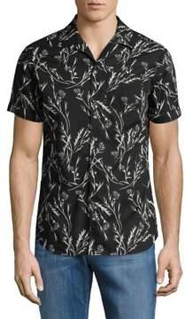 Selected Flash Cotton Button-Down Shirt