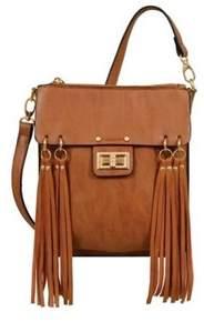 Mellow World Women's Ava Multicolored Fringe Crossbody Bag.