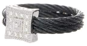 Alor 18K White Gold Diamond Square Detail Ring - 0.07 ctw