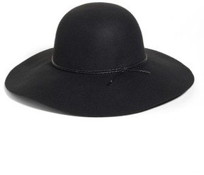 Halogen Women's Wool Floppy Hat - Black