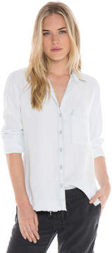Bella Dahl Rounded Yoke Button Down-Shadow Seams Wash-S
