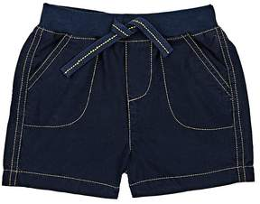 Baby CZ TOPSTITCHED COTTON RELAXED SHORTS