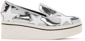 Stella McCartney Silver Binx Star Platform Sneakers