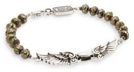 King Baby Studio Wingspan Beaded Sterling Silver Bracelet