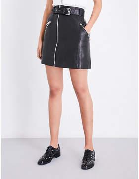 Claudie Pierlot Casino A-line leather skirt