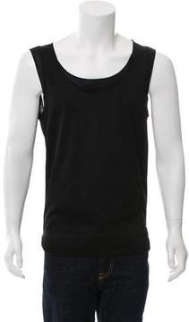Les Hommes Semi-Sheer Trim Sleeveless T-Shirt w/ Tags