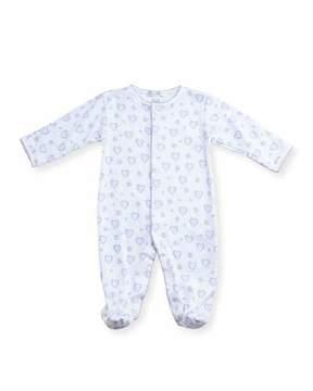 Kissy Kissy Fleur de L'Amour Footie Pajamas, Size 0-9 Months