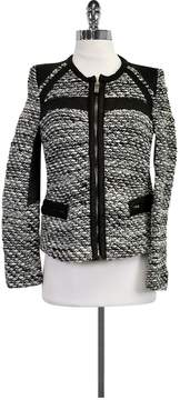 IRO Black Bouclé Knit Jacket
