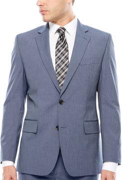 Jf J.Ferrar JF Texture Stretch Light Blue Jacket- Classic Fit