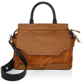 Rag & Bone Pilot Leather and Suede Satchel