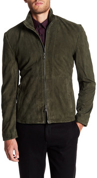 John Varvatos Leather Zip Jacket