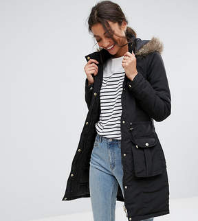 Brave Soul Tall Hooded Mid Parka