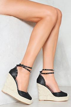 Nasty Gal nastygal Mission Beach Studded Wedge