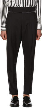 Haider Ackermann Black Wool Classic High-Waisted Trousers