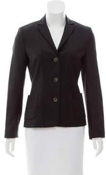 Cacharel Peaked-Lapel Button-Up Blazer