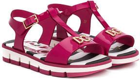 Dolce & Gabbana logo plaque sandals