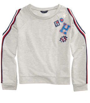 Tommy Hilfiger Embellished Cold-Shoulder Sweatshirt, Big Girls (7-16)