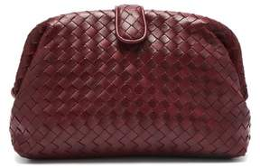 Bottega Veneta The Lauren 1980 Leather Clutch - Womens - Burgundy