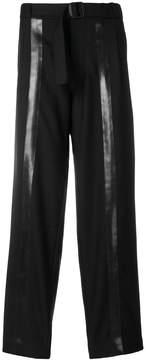 MACKINTOSH loose fit stripe detail trousers