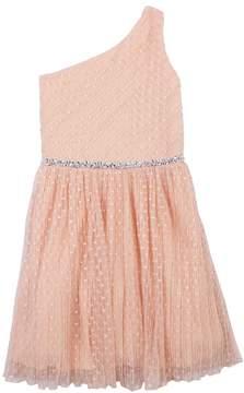 Speechless Girls 7-16 Asymmetrical One Shoulder Pleated Dress