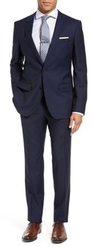 BOSS Men's Huge/genius Trim Fit Navy Wool Suit