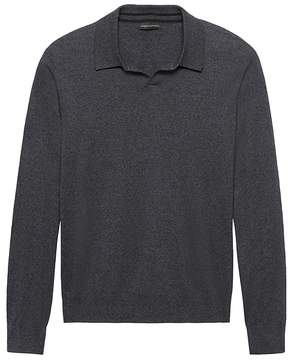 Banana Republic Silk-Cotton Cashmere Sweater Polo