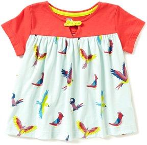 Copper Key Adventure Wear by Little Girls 2T-4T Short-Sleeve Bird Printed Knit Top