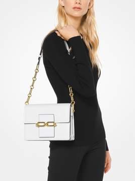 Michael Kors Cate Medium French Calf Shoulder Bag - OPTIC WHITE - STYLE
