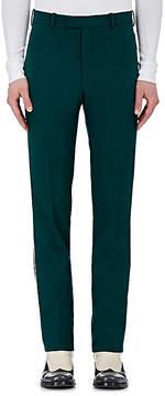 Calvin Klein Men's Stripe-Appliquéd Wool Trousers
