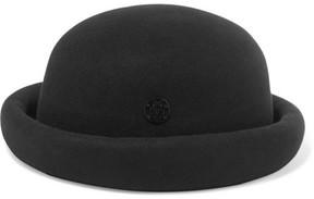 Maison Michel Reese Rabbit-felt Hat - Black
