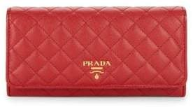 Prada Quilted Leather Wallet