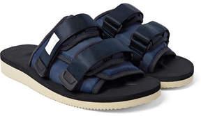 Suicoke Moto Suede, Nylon And Webbing Sandals