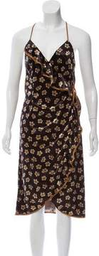 ABS by Allen Schwartz Floral Print Midi Wrap Dress w/ Tags
