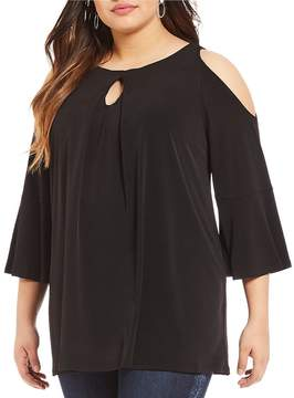 Peter Nygard Plus Cold Shoulder Tunic