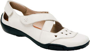 Ros Hommerson Winter White Carrie Leather Mary Jane - Women