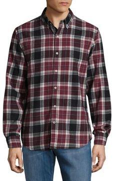 Joe's Jeans Cotton Plaid Button-Down Shirt