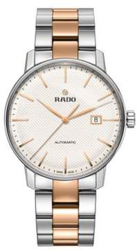 Rado Coupole Classic Stainless Steel and Rose Goldtone Ceramos Bracelet Automatic Watch
